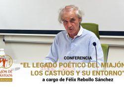 Conferencia 'El legado poético de El Miajón de los Castúos y su entorno' a cargo de Félix Rebollo Sánchez